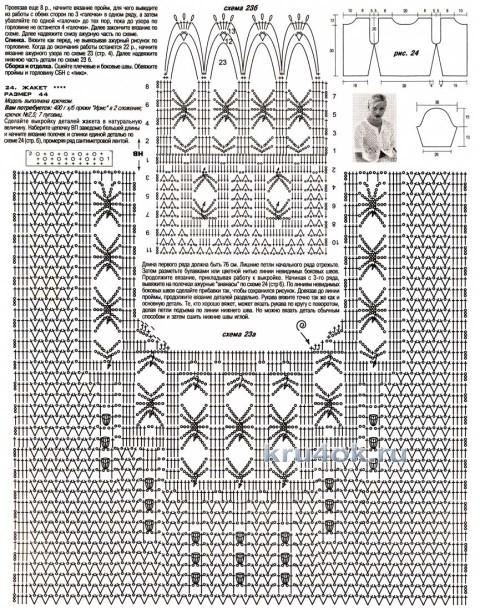 Две кофточки, связанные по одной схеме вязание и схемы вязания