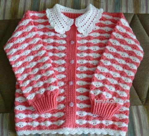 Кофточка для девочки - работа Надежды Хабибуллиной вязание и схемы вязания