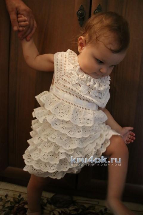 Комбинированное платье для девочки. Мастер - класс! вязание и схемы вязания