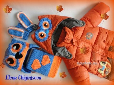 Комплект для мальчика. Работа Елены вязание и схемы вязания