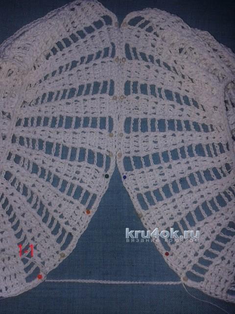 Комплект крючком. Панама и болеро для девочки вязание и схемы вязания