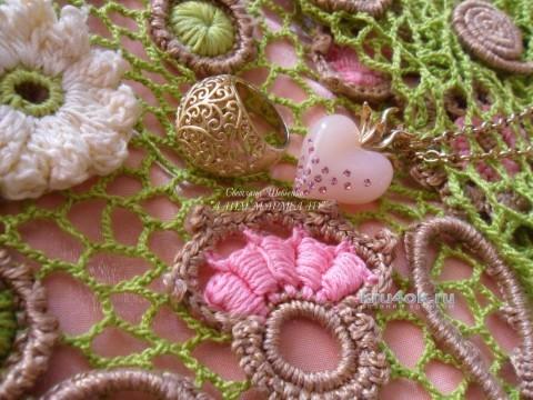 Летнее платье Лайм мармелад вязание и схемы вязания
