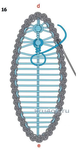 Нарядный воротник в технике румынского кружева вязание и схемы вязания