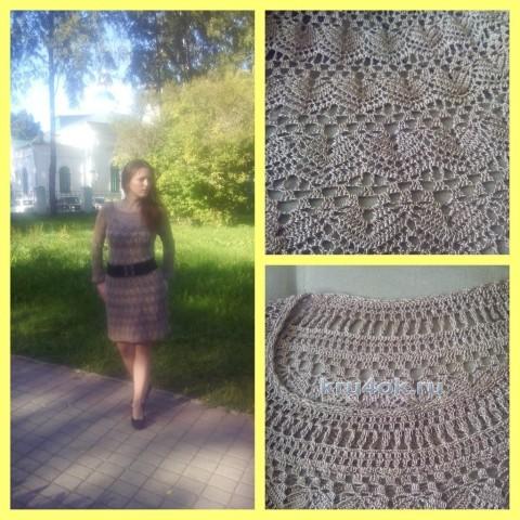 Платье и кофточка, связанные по одной схеме. Работы Нины вязание и схемы вязания