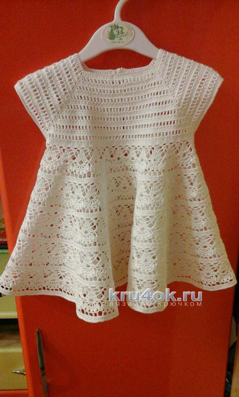 Вязание теплого платья для девочки 17
