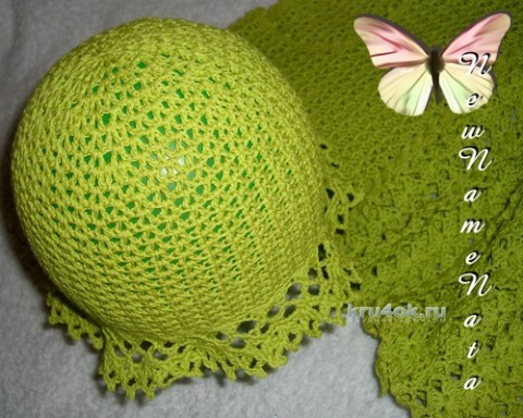 Шляпка для девочки. Работа NewNameNata вязание и схемы вязания