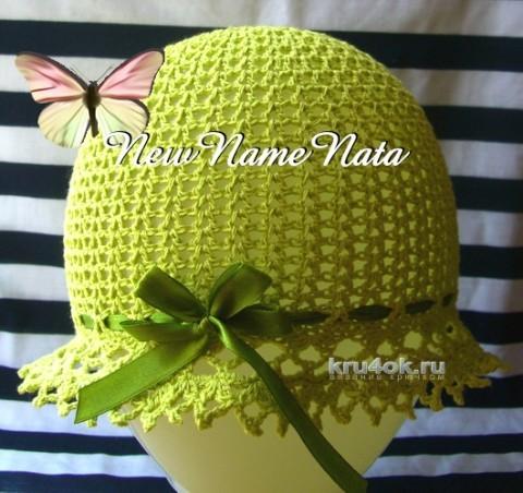 Шляпка для девочки крючком. Работа NewNameNata