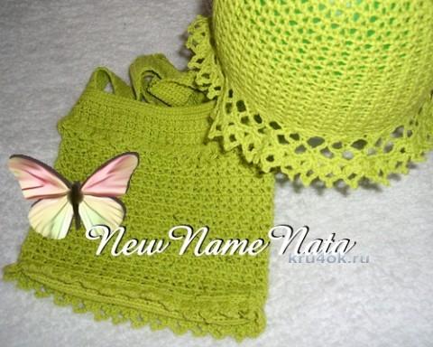 Сумочка для девочки крючком. Работа NewNameNata вязание и схемы вязания