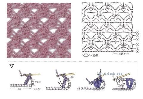 Туника крючком. Работа Светланы вязание и схемы вязания
