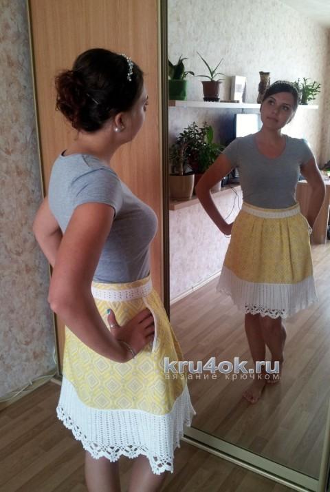 Украшение для юбки. Работа Валентины вязание и схемы вязания
