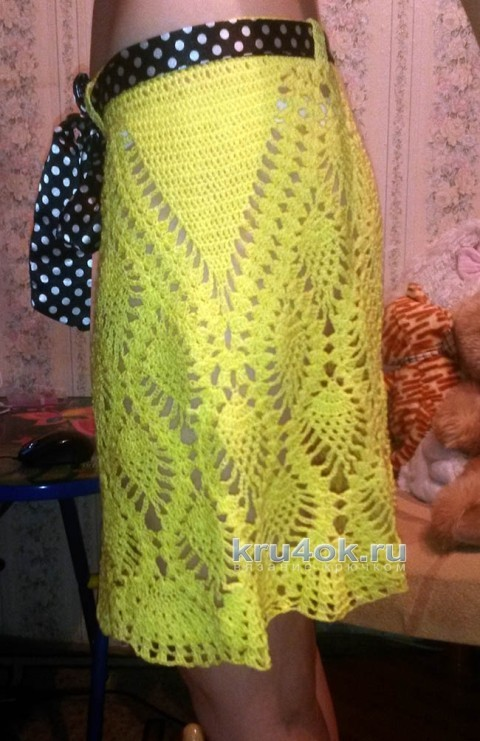 Вязаная ажурная юбочка. Работа Юлии Галецкой вязание и схемы вязания