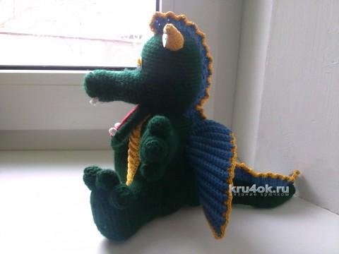 Вязаная игрушка дракон. Работа Веры вязание и схемы вязания