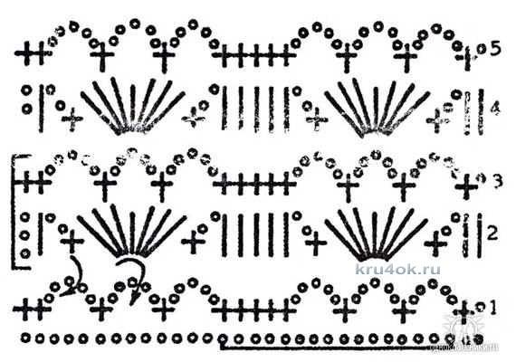Вязание крючком.ажурные узоры