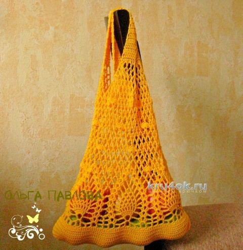 Вязаная крючком авоська. Работа Ольги Павловой вязание и схемы вязания