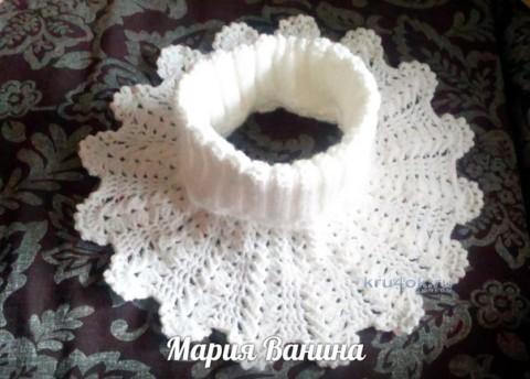 Вязание манишки, работа Марии