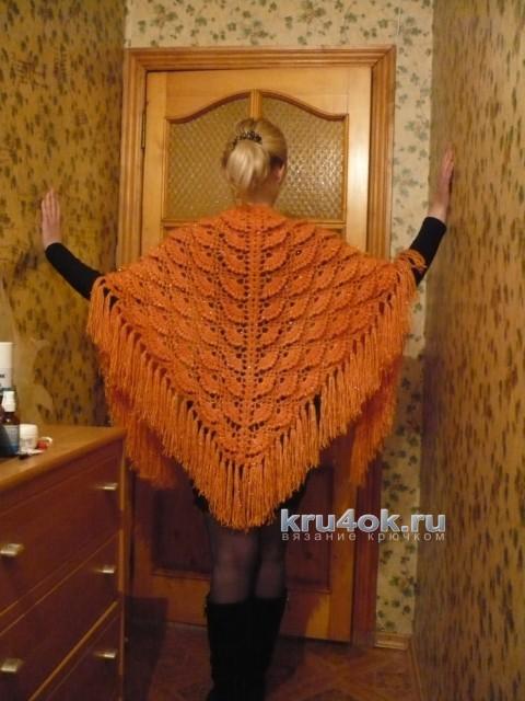 Вязаная крючком шаль. Работа Светланы вязание и схемы вязания