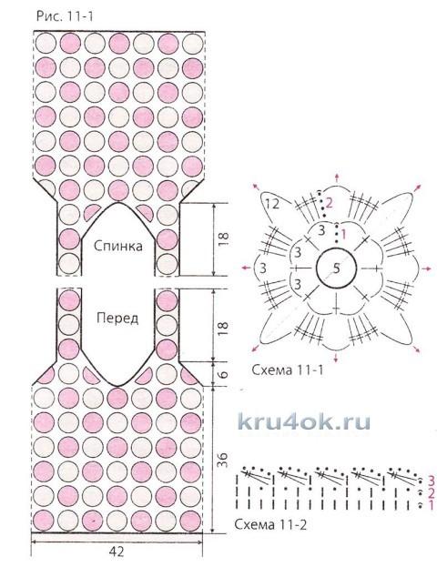 Вязаная туника Маки. Работа Светланы вязание и схемы вязания