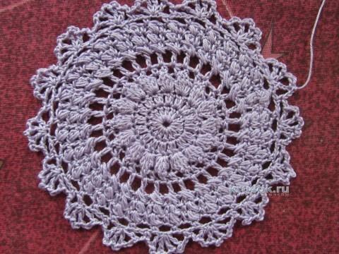 Вязаное крючком платье. Работа Людмилы вязание и схемы вязания