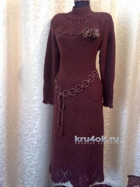 Вязаное крючком платье. Работа Натали вязание и схемы вязания