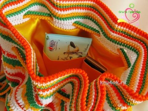 Вязаные крючком рюкзаки. Работы Ольги Павловой вязание и схемы вязания