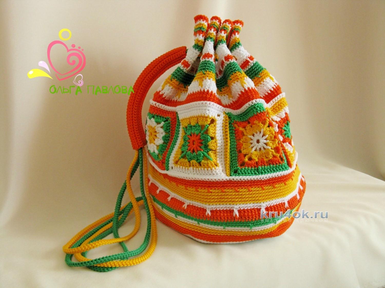 вязание крючком детский рюкзак схема