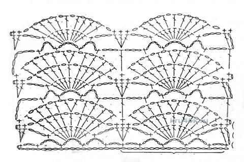 Вязаный крючком сарафан. Работа Юлии Галецкой вязание и схемы вязания