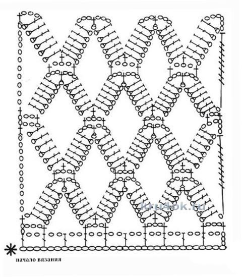 Вязаный крючком жилет. Работа Валентины вязание и схемы вязания