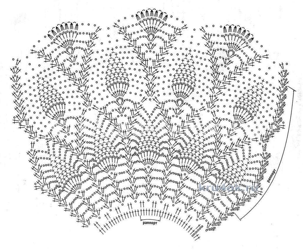 Схема узора для юбки крючком для девочки