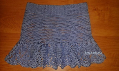 Юбка для девочки крючком. Мастер - класс! вязание и схемы вязания