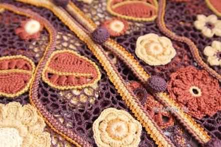 Жилет в технике ирландского кружева вязание и схемы вязания