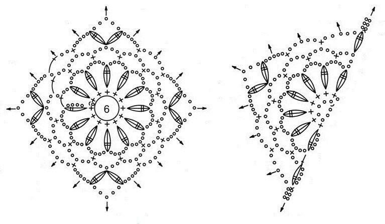 ажурное вязание топа