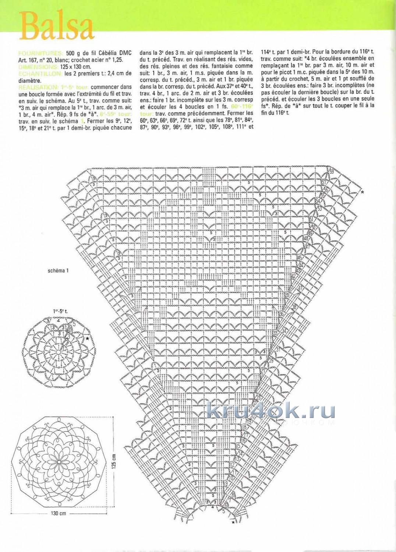 Схема вязания ажурных зонтиков