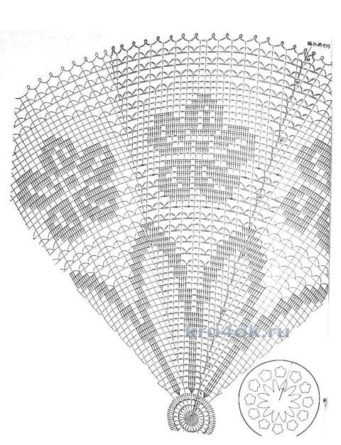 Ажурный зонтик. Работа Ефимовой Светланы вязание и схемы вязания