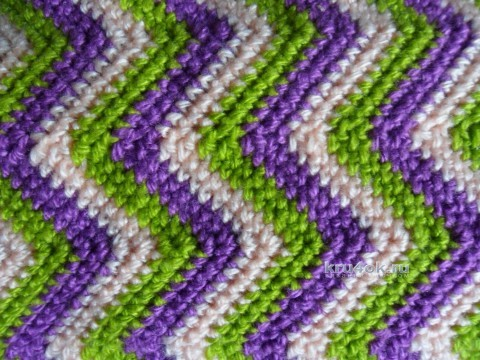 Диванная подушка - валик. Работа Светланы Шевченко вязание и схемы вязания