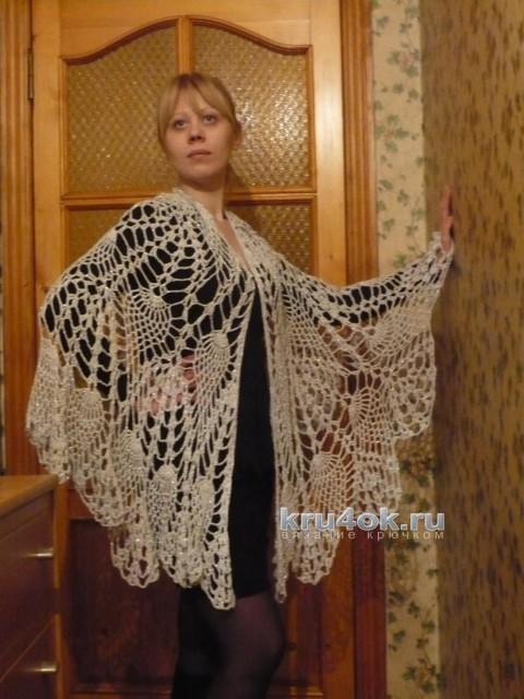 Пелерина Серебристый иней. Работа Светланы Клименко вязание и схемы вязания