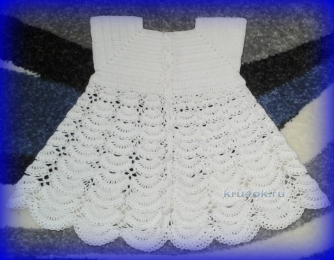 Платье и шапочка для малыша крючком вязание и схемы вязания