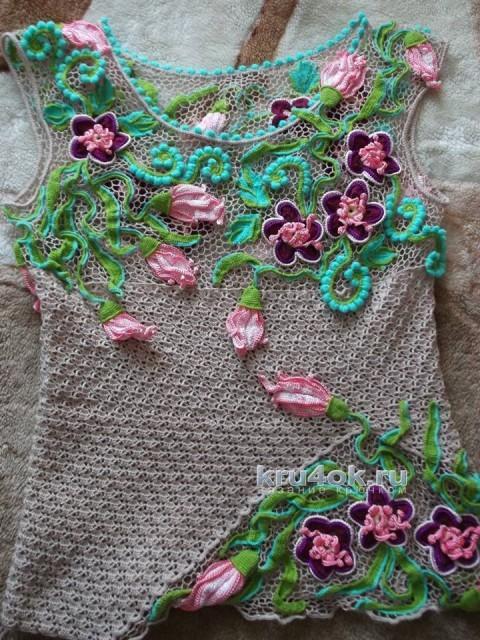 Работы Тамары Гольц в технике ирландского кружева вязание и схемы вязания