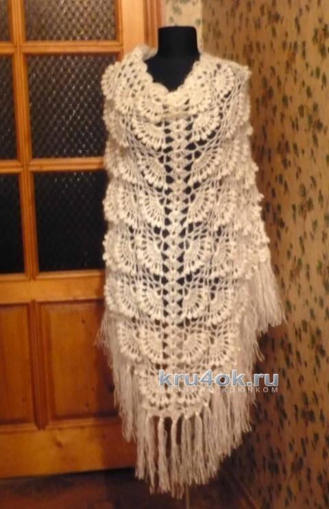 Шаль Зимний вечер. Работа Светланы Клименко вязание и схемы вязания