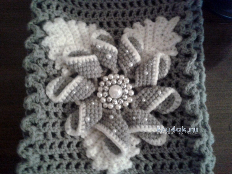 схема вязания шарфа энтрелак