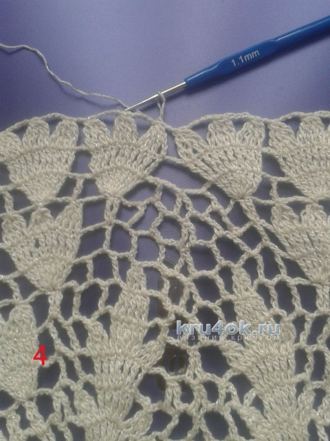 Сумка из круглой салфетки. Мастер - класс! вязание и схемы вязания