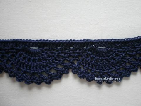 Вязаная крючком кайма. Работа Ирины Стильник вязание и схемы вязания