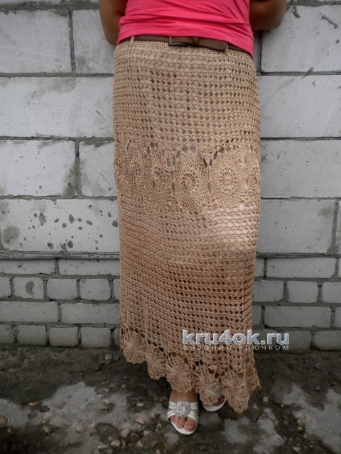Вязаная крючком юбка. Работа Ирины вязание и схемы вязания