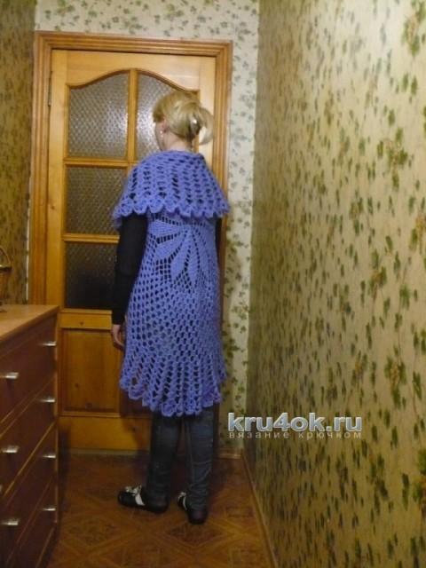 Вязаная накидка Ксения. Работа Светланы Клименко вязание и схемы вязания