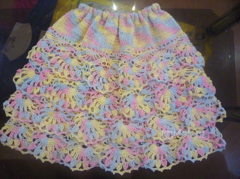 вязаная юбочка с оборками для девочки малышки схема