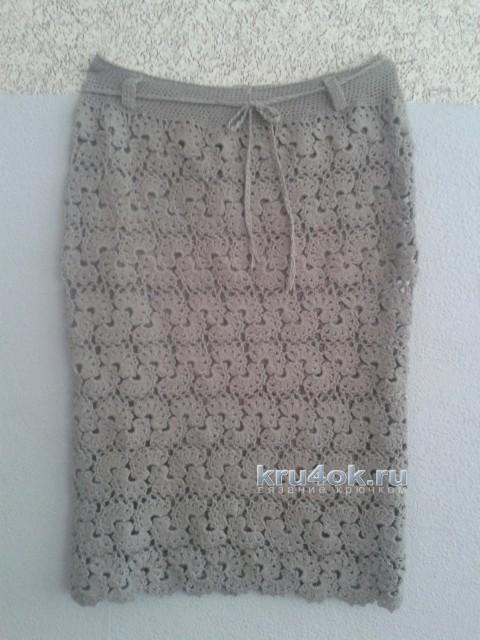 Вязаная юбочка. Работа Анны Александровны вязание и схемы вязания