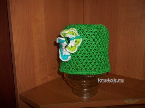 Вязаные детские шапочки. Работы Юлии вязание и схемы вязания