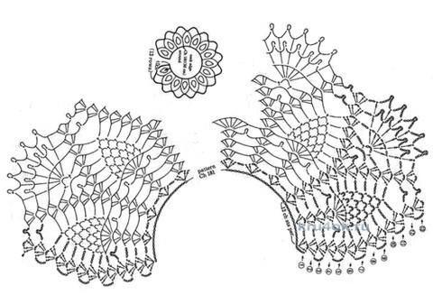 Вязаные крючком воротнички. Работы Альбины вязание и схемы вязания