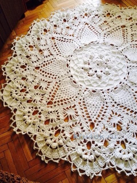 Вязаные напольные ковры. Работы Валентины вязание и схемы вязания