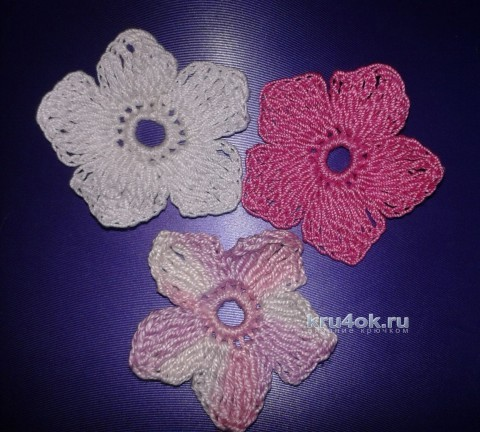 Вязаный крючком цветок. Мастер - класс! вязание и схемы вязания