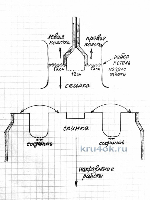 Вязаный крючком кардиган. Работа Натали вязание и схемы вязания